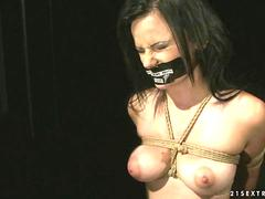 Busty girl being painfully punished