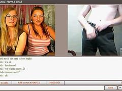 Two Girls Love Watching A Guy Wanking On Webcam