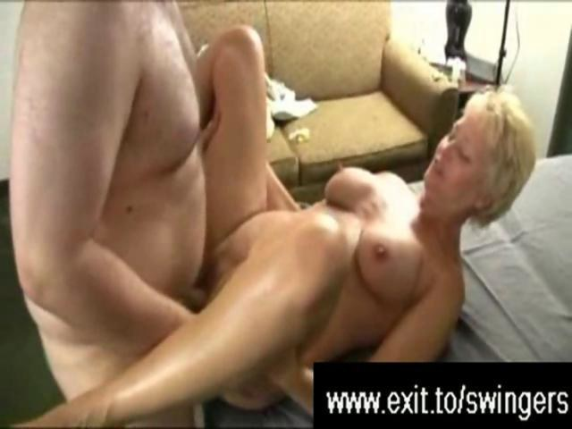 Busty milf causes a cum explosion