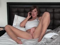 Two sexy babes having horny phone sex