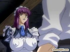 Bondage hentai shemale with three cocks gets punishment