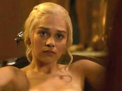 Emilia Clarke nude in the bath Game Of Thrones S03E08 2013