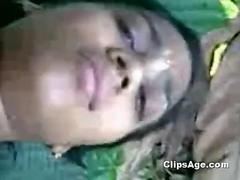 Local Indian desi village lady Subhi getting boobs squeezed and fucked outdoor