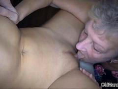 Dirty mature lesbian goes crazy licking