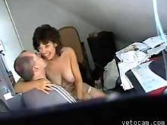 Mature milf fucked in the office on hidden cam