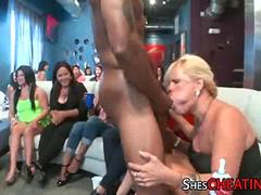 Dancing Bear Male Strippers At a Blowjob Party