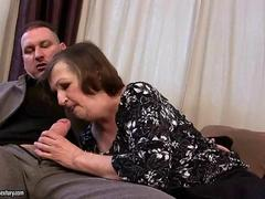 Ugly grandma gets fucked rough