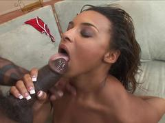 Sexy ass ebony falls for a bbc thug and surrenders herself to his desires