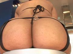 Big black cock deep into her ass hole is what this chubby slut prefers