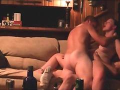 Fucked by two guys in her first threesome