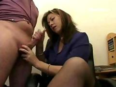 Hand Job in the Office