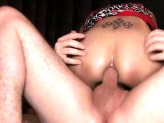 Ladyboy Aly Big Dick And Mouthful of Sperm