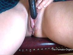 MILF Buzzes Meaty Creamy Pussy to Snapping Orgasm