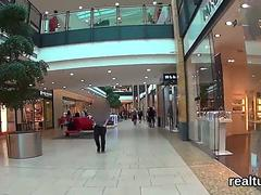Adorable czech cutie was seduced in the mall and shagged in pov