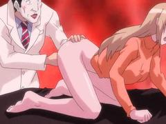 Anime chick gets boobs and pussy rubbed
