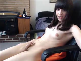 hot young tranny amateur with small cock.
