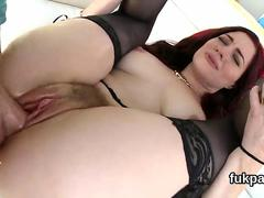 Exquisite model showcases big ass and gets butt hole nailed