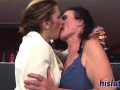 Reverse gangbang with horny and lusty grannies