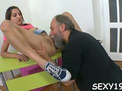 threesome les with old teacher feature feature 1