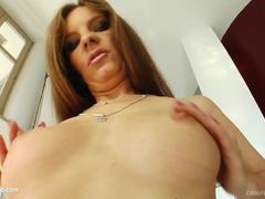 Evelyn Foxy in gonzo blowgang bukkake scene by Cum For Cover
