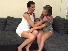 Very old and young lesbian vid