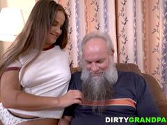 Olivia Nice and a lucky old guy