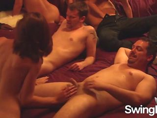Swingers having a sizzling hot orgy