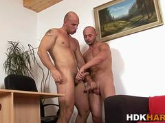Gay hunk fucks guys ass