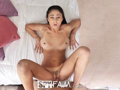 SpyFam March madness blackmail fuck with step sister Ariana Marie