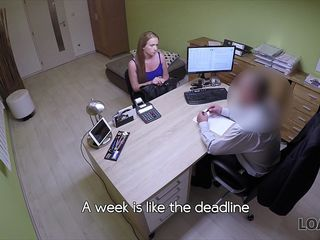 LOAN4K. Do you want to study? have to fuck with the agent