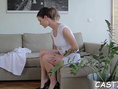 sex and a lot of jizz at a casting video video 3