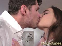Dane Jones Petite young Czech POV blowjob and filled up by big white cock