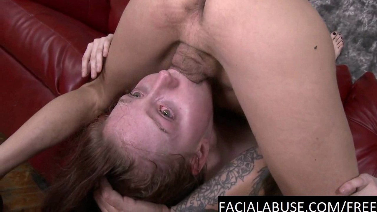 Messy deepthroat sex