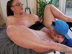 Milf tits anal hd first time Emma Butt is all ready for her rubdown when she gets a phone