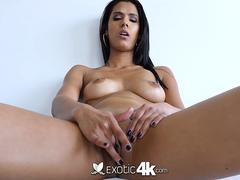 EXOTIC4K Indian girl spreads wet pussy lips for BIG dick