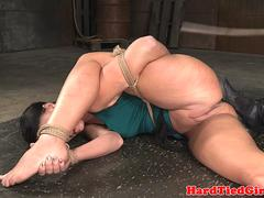 Dominated slave gets her clothes ripped off