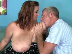 BBW Brunette Teen With Massive Tits Fucked