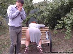 got my little slut to suck at the park.... movie