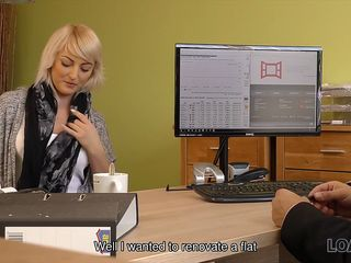 LOAN4K. Blonde miss passes the most pleasurable casting in her life