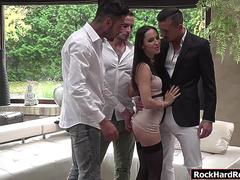 Russian Lilu Moon gets analed by three big cocks