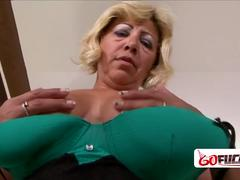 60 year old gilf receives a hard banging by her lovers big black cock