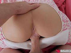 Horny stepsis bends her ass for stepbros throbbing cock
