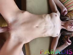 Naked thin blonde GF fucking on our 1st day of vacation together