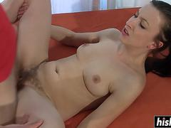 hard dick fits in her hairy pussy feature