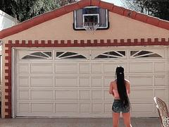 Petite Jade Kush Scores A Big Cock For Her Asian Pussy After A Basketball Game