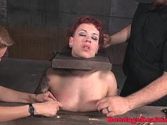 Tattooed NT fetish babe bound and teased