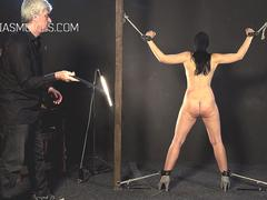 Thief slut interrogated with whipping