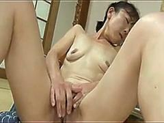 japanese granny has finger fun segment clip 1