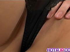 Rico Kurusu moans while gently rubbing her pussy - More at hotajp.com