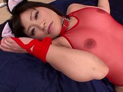 Aika Hoshino enjoys great inches in her pink cherry - More at 69avs.com